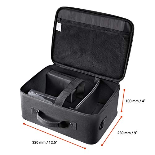 celexon Projector Case 16x11 inches, Projector Travel Carrying-Bag with Adjustable Shoulder Strap, for Epson, Acer, Benq, LG,...
