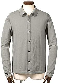 ロベルトコリーナ roberto collina / 19SS!ドライコットンハイゲージ長袖ニットシャツ『RA10005』 (PERLA/ライトグレー) メンズ