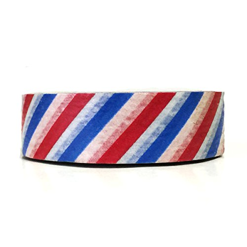 Wrapables Colorful Patterns Washi Masking Tape, Red White and Blue