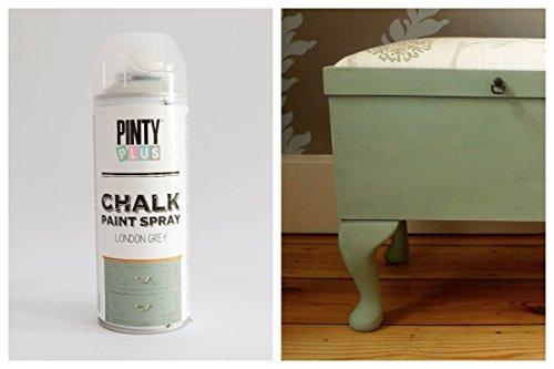 Pintura a la tiza en aerosol, con base al agua, varios colores,400ml , LONDON GREY, 400 ml