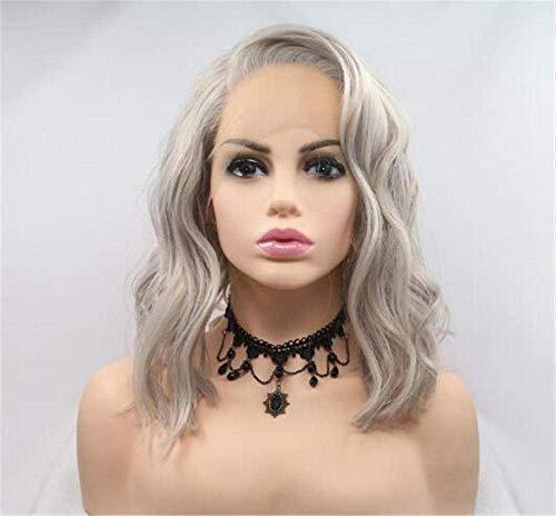 ZTBXQ Zubehör Pflege Haarteile PerückenOmbre Perücke Frauen Kurzes Haar Perücke Dame KurzeslockigesHaarChemiefaserFront Lace Fashion Perücke Weihnachten