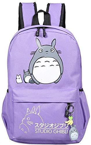 Teenager Cartoon My Neighbor Totoro for School Backpack Anime Canvas Stationery Set