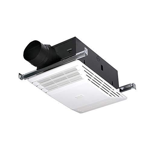 Broan-NuTone 658 Heater Without Light, 70 CFM 4.0-Sones 1300-Watt, White Plastic Grille