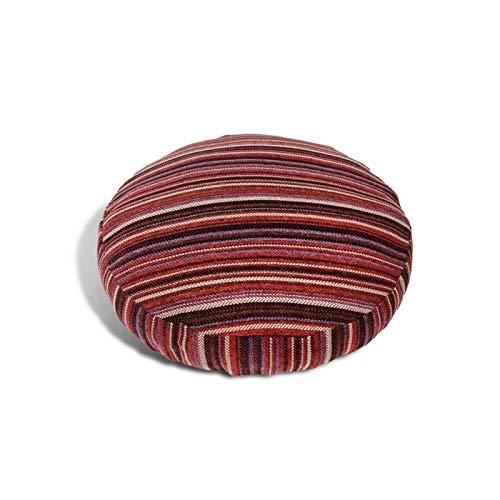HXSKI Cuscino da Pavimento,Cuscino da Meditazione Rotondo,Colore A Tinta Unita Lavabile Cuscini Sedie,Spesso Futon Giapponese Cuscino,per Casa Divano Finestra Baia Auto-Rosso 40x40cm(16x16inch)