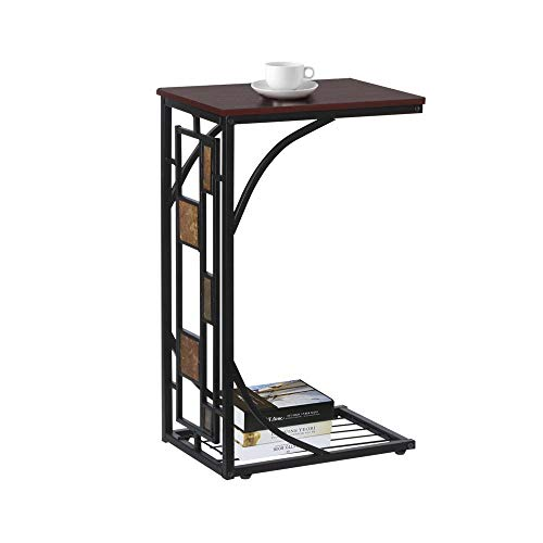Yaheetech Table d'appoint à Café Snack Bout de Canapé 21 x 30,5 x 53 cm Table Basse Vintage Petite Desserte pour Salon Jardin Terrasse