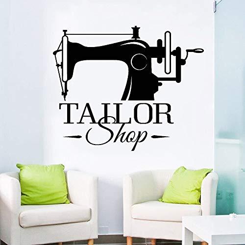 Kleermaker slogan muursticker naaien modevormgeving op maat stickers bedrijfskantoor raamdecoratie poster sticker 48x38.4cm