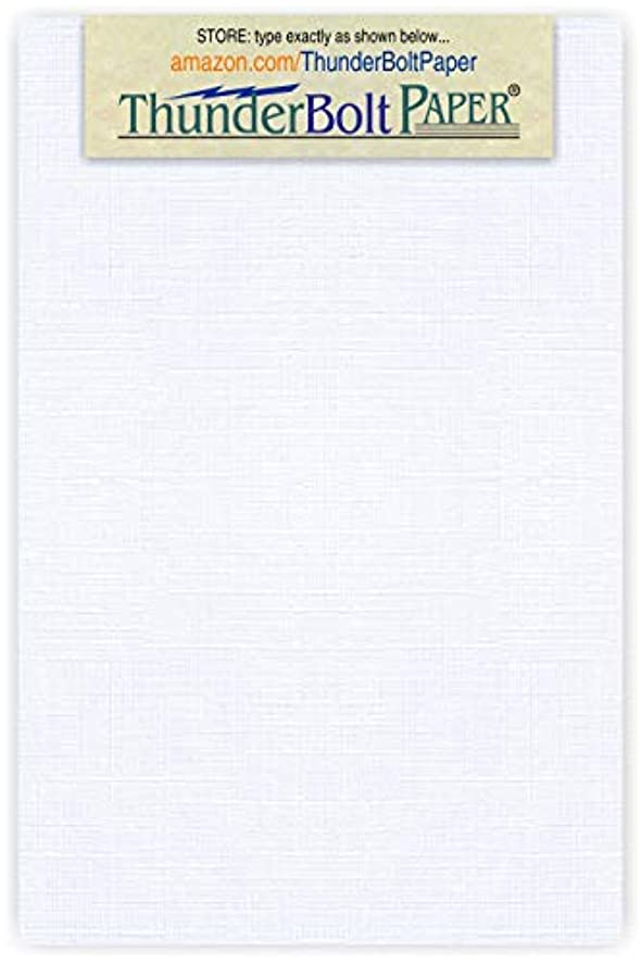 500 White Linen 80# Cover Paper Sheets - 4