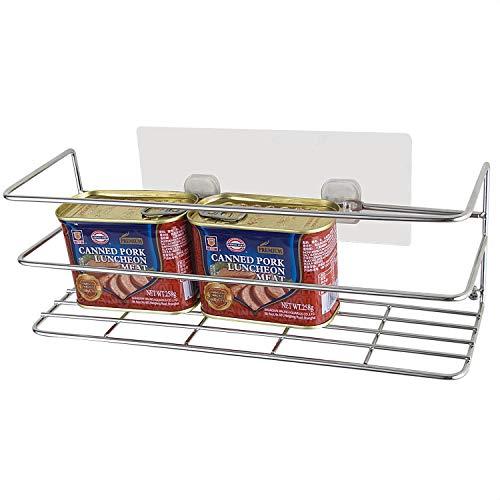 LeHeJu Cabinet and Counter Kitchen Organizer Shelf, Stainless Steel (S304) Kitchen Cabinet Doors or wall Storage Basket