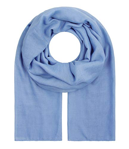 """Majea Tuch Aurora"""" großes Damen-Halstuch XXL Schal Damen Tuch Halstuch einfarbig uni unisex unifarben Schals und Tücher (denim)"""