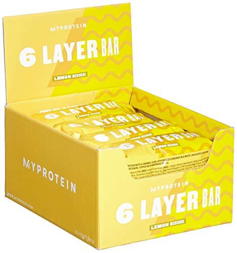 Myprotein 6 Schicht Bar, Lemon Meringue / Zitronen-Baiser, 12 X 70g