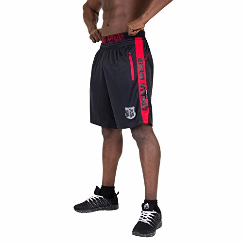 Gorilla Wear Shelby Shorts - Black/Red, XL