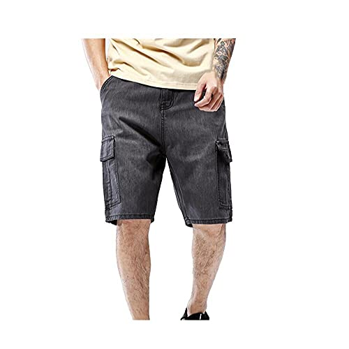 N\P Men's Jeans Business Casual Elastic and Comfortable Straight-Leg Jeans Men's Tall Black