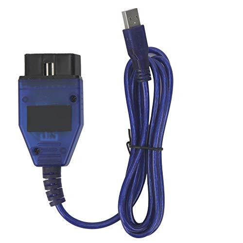 EBTOOLS OBD Cable Diagnostic Scanner Car Diagnostic Tool,Auto Car OBD Cable ECU Scanner Professional Diagnostic Tool Automotive Scan Tool Fit for Fi-at for Windows XP/Windows 7