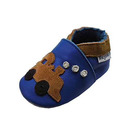 Mejale Baby Shoes Soft Sole Leather Crawling Moccasins Cartoon Mushroom Infant Toddler First Walker Slippers