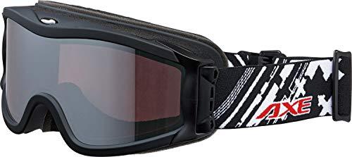 AXE(アックス) スキー 男女兼用 ゴーグル 偏光レンズ・ヘルメット対応・メガネ対応・ダブルレンズ・ノーズフィット・UVプロテクション マットブラック OMW785