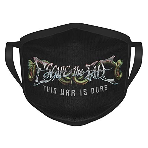 Escape The Fate Unisex Masks,Washable Reusable Dust Face Cover,Neck Gaiter,Balaclava for Outdoors Cycling Fishing Running Black