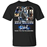 Legend Never Die Paul Walker 1973 2013 40 Years Thank You for The Memories Unisex T-Shirt Black