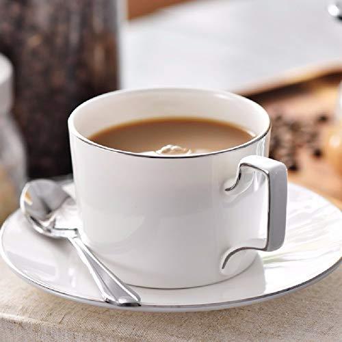 Tazza da tè elegante European Bone China Coffee Cup Set Una tazza con un cucchiaio d'argento