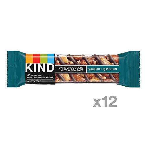 KIND Bars, Dark Chocolate Nuts & Sea Salt, Gluten Free 4