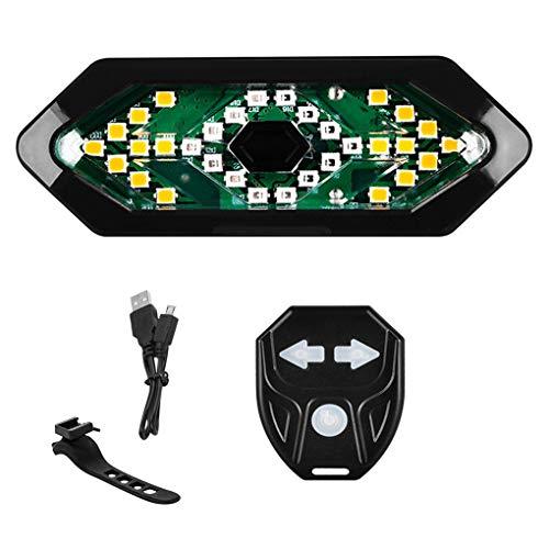 teng hong hui Bicicleta luz Trasera Impermeable de 60 Advertencia para Bicicleta luz de Advertencia Recargable Ajustable Moto USB Luz señal de Vuelta de la lámpara Posterior