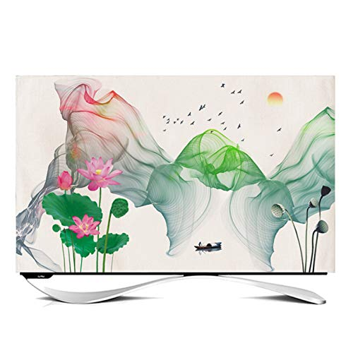 catch-L Funda Compatible con Monitor TV LCD TV Decoración De La Cubierta de Polvo para Televisores y Monitores de 24' - 65' Pulgadas -GAOGUIMEI Cubierta Antipolvo(Size:60inch,Color:C)