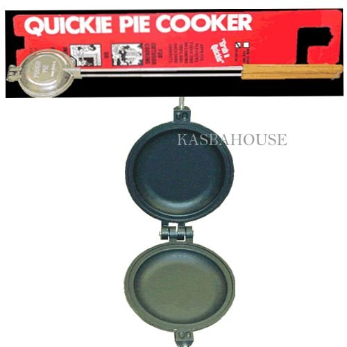 Palmer Round Pudgie Pie Iron Long Handle - Non Stick Finishing - Made in USA