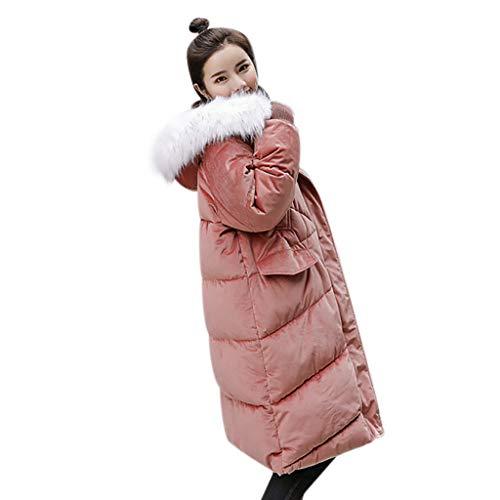 Cerlemi Damen Kleider Daunenjacke Warm Winterjacke Parka Jacke Mantel Lange Mit Fellkapuze Steppjacke Wintermantel Slim Down Jacke Mantel zur Jeans Stiefeletten Winter Strumpfhosen Pumps