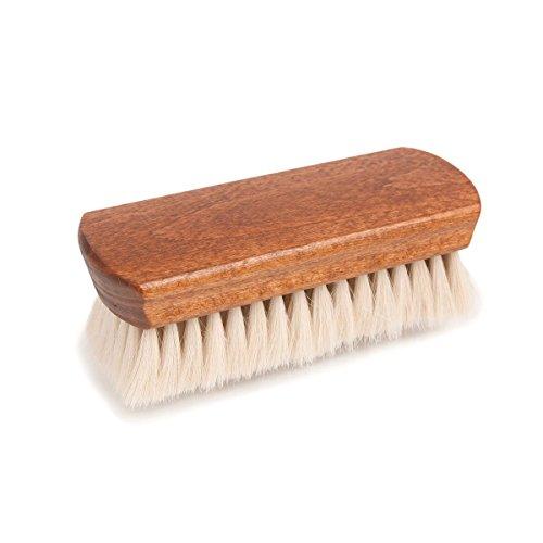 Supreme Products Luxus Ziegen Haar Polier Bürste für Polierbürste Schuhe und Stiefel mit Superweich Haare