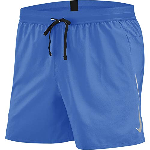 "Nike Men's Flex Stride 5"" Running Shorts Pacific Blue/Reflective SILV L"