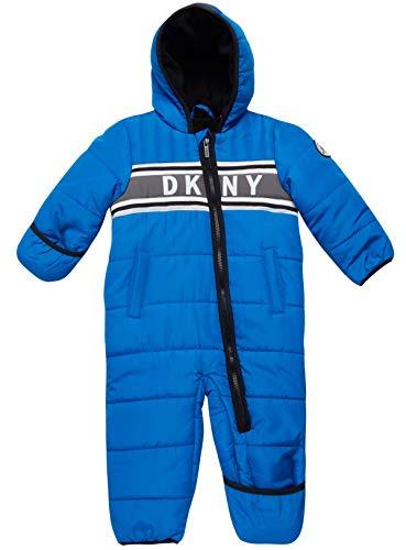 DKNY Baby Boys' Snowsuit Hooded Fully Fleece Lined Onesie...