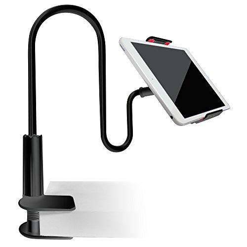 AFUNTA Soporte para Tablet Móviles, Sostenedor Flexible Multi-Ángulo Cuello de Cisne Soporte para iPad/iPhone/Tableta/GPS Samsung LG Blackberry- Negro