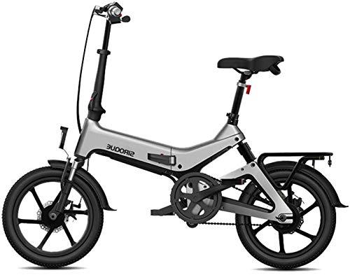 Bicicleta eléctrica Bicicleta eléctrica por la mon Bicicleta eléctrica plegable for adultos Bicicletas E E-bike100km Kilometraje 7.8Ah de iones de litio bateador 3 Montar Modos de 250W Velocidad máxim