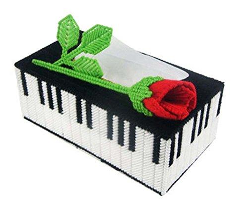 Black Temptation Stereo Besticktes Set 3D Kreuzstich Neues Wohnzimmer Draw Tissue Box, Klavier
