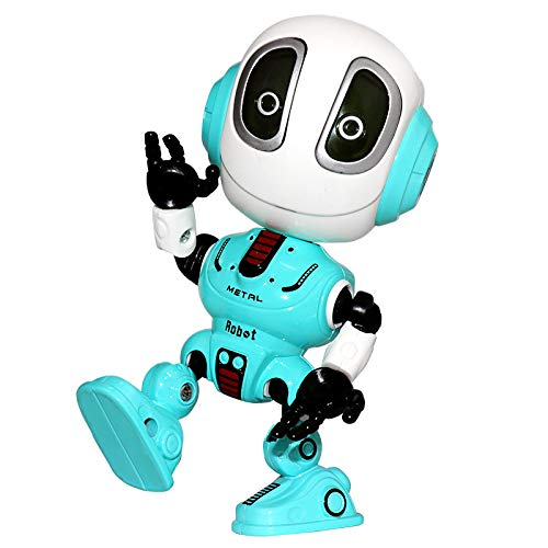 CONVLI Kids Robot Toy,Talking Interactive Voice Controlled Touch Sensor Your Voice,Sound, Flashing Lights for Kids Boys Girls Gift(Blue)