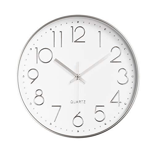 Aleenfoon - Reloj de pared silencioso para salón, cocina, diseño moderno de péndulo de pared, 30 cm
