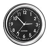 Relojes para Coche, Stick-on Car Dashboard Clock Cars, Reloj de Cuarzo analógico Redondo, Relojes de Auto para Dash, Mini Relojes de Cuarzo Luminosos Decoración Motocicletas Automóviles, Negro