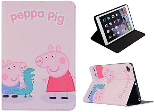Bruksa-Art-Zone For iPad Pro 10.5/10.2 / Air 3 Peppea Pig Anime Cartoon Kids FUN Stand Folio Smart Case Cover Sleep Wake Sensor
