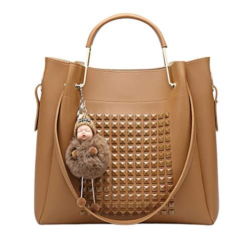 Kreative Lady Fashion Doll Anhänger Handtasche Geldbörsen für Frauen Mädchen weiblich braun
