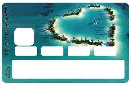 Upper Life Kreditkarten-Aufkleber, Motiv Love Island