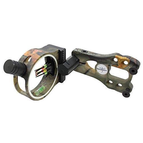 Southland Archery Supply SAS 5-Pin .029 Glasfaseroptik Bogenvisier mit LED Sichtlicht
