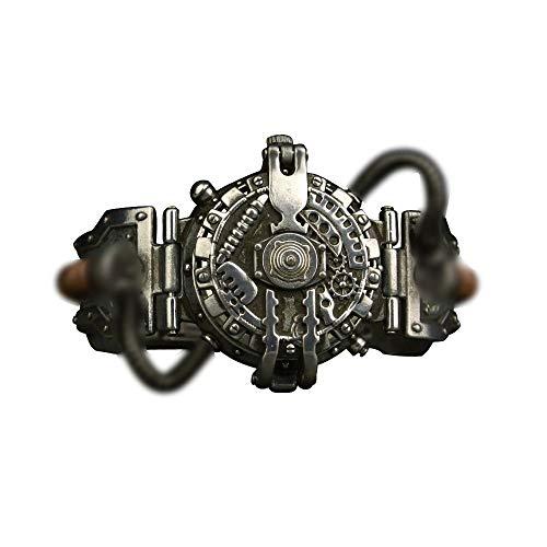 Ouzhoub Traje de Mujer Steampunk, Industrial del Viento Retro Steampunk Reloj Reloj de Cuarzo (Color : White Watch Movement)