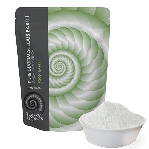 FOSSIL POWER Food Grade Diatomaceous Earth Organic Powder - 100% Natural, 2 lb Bulk - Fossil Fuel DE Food - Safe for Humans and Pets Consumption