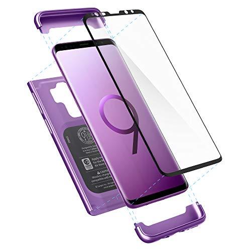 Spigen Cover S9 Plus Thin Fit 360 Compatibile con Note 9 Cover Custodia - Lilac Purple