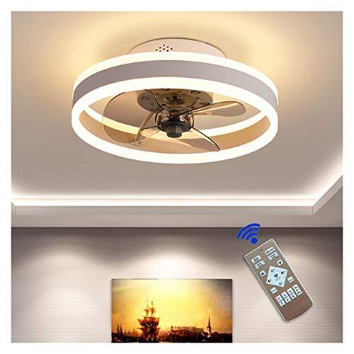 Ventilador de techo con luces y control remoto, luces de techo modernas regulables 60W, luz de ventilador para sala de estar, dormitorio (Color : White)