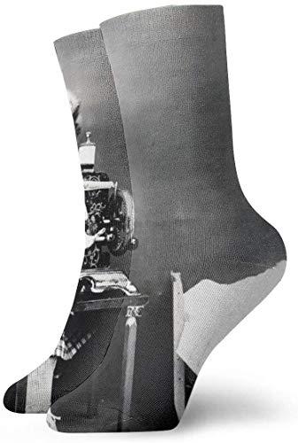 NA Herren-Socken mit niedlichem Hund und Schneidermeister, aus Polyester