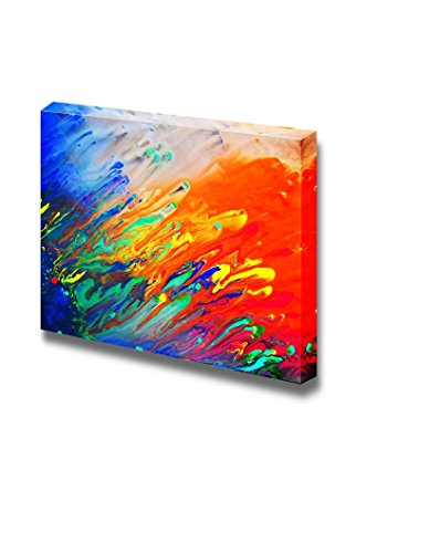 wall26 - Canvas Prints Wall Art - Colorful Streaked Painting | Modern Wall Decor/Home Decoration Stretched Gallery Canvas Wrap Giclee Print. Ready to Hang - 16' x 24'