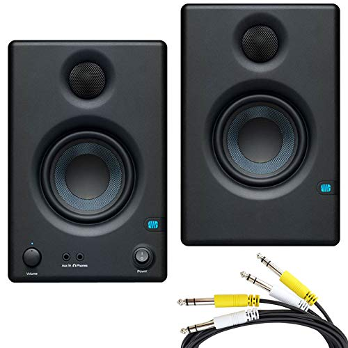 Presonus Eris 4.5 Aktive Multimedia Monitor-Boxen + 2-fach Klinke Anschluss-Kabel 2m