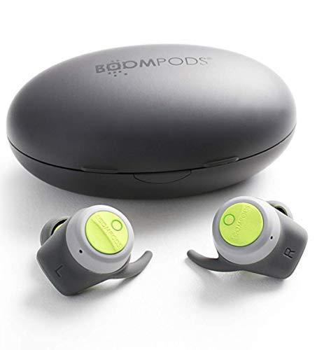 Boombuds 'True Wireless Earbuds' kabellose Bluetooth Kopfhörer mit bis zu 5 h Akkulaufzeit in Grau/Grün