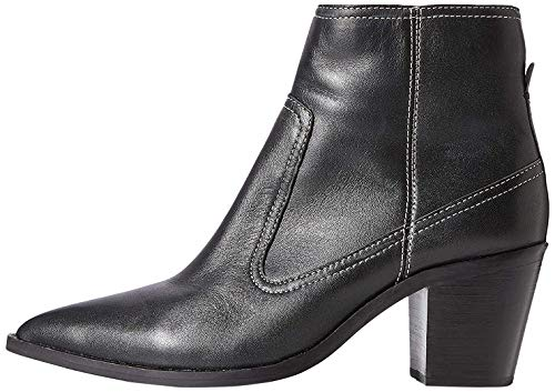 Marchio Amazon - find. Stitch Leather High Western Stivaletti, Nero Black), 38 EU