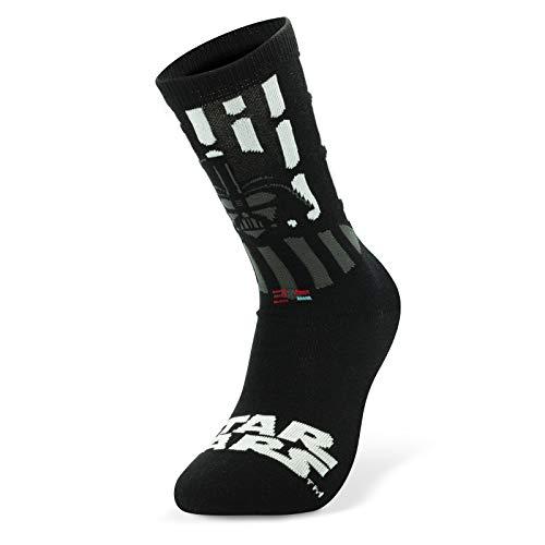 Star Wars Darth Vader - Calcetines (talla 38-43), color blanco y negro, estampados, 66% algodón, 32% poliéster, 2% elastano.